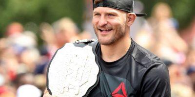 Stipe Miocic retuvo el cinturón de peso pesado de la UFC en Cleveland Foto:Getty Images