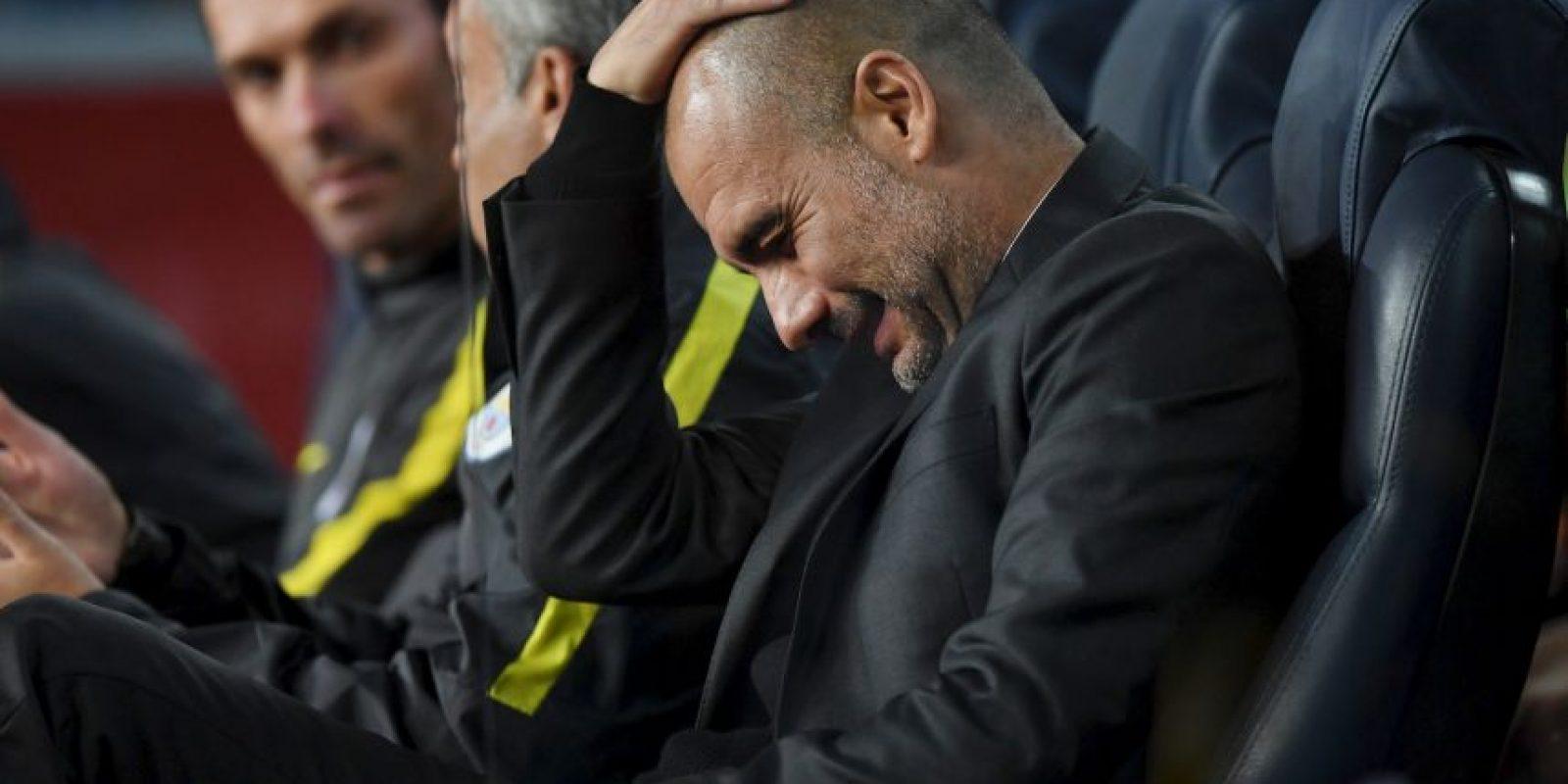 Pep Guardiola no lo está pasando nada de bien y ya suma seis partidos sin ganar. Foto:Getty Images