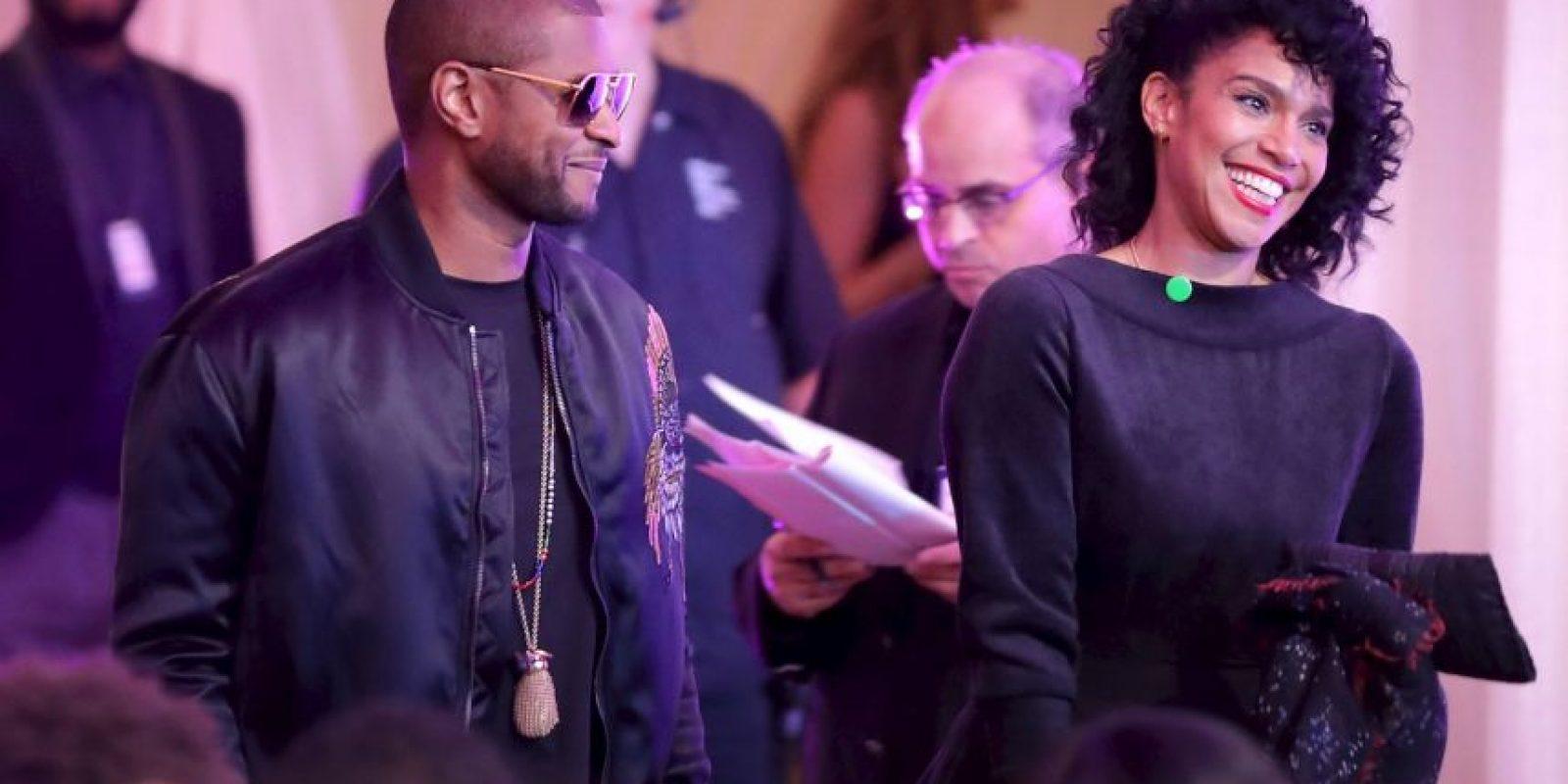 """Entre los invitados estuvo Usher, quien grabó al presidente bailando """"Hotline Bling"""" Foto:Getty Images"""
