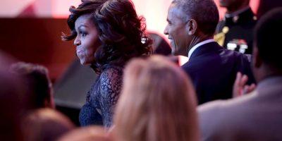 También estuvo Michelle Obama, pero al parecer, ella no se quedó en la fiesta