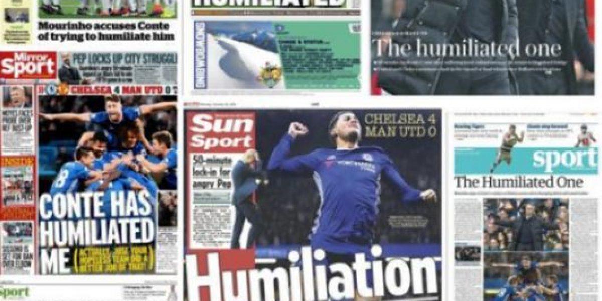 Mourinho se gana portadas y trolleo por la humillación ante Chelsea