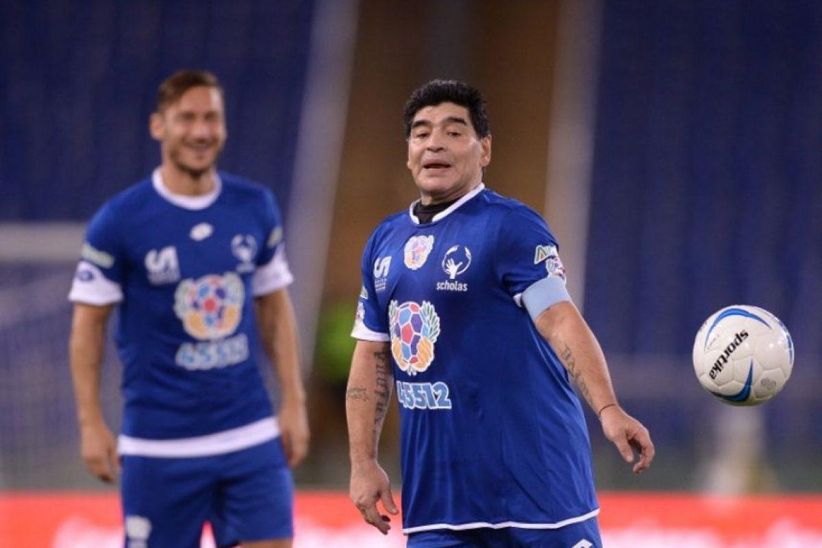 Así lució Diego Maradona en el Partido por la Paz Foto:AFP