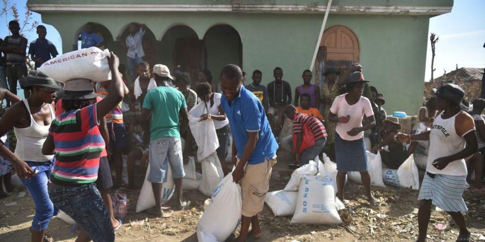 El gobierno de Haití también se está enfrentando a un posible brote de cólera Foto:AFP