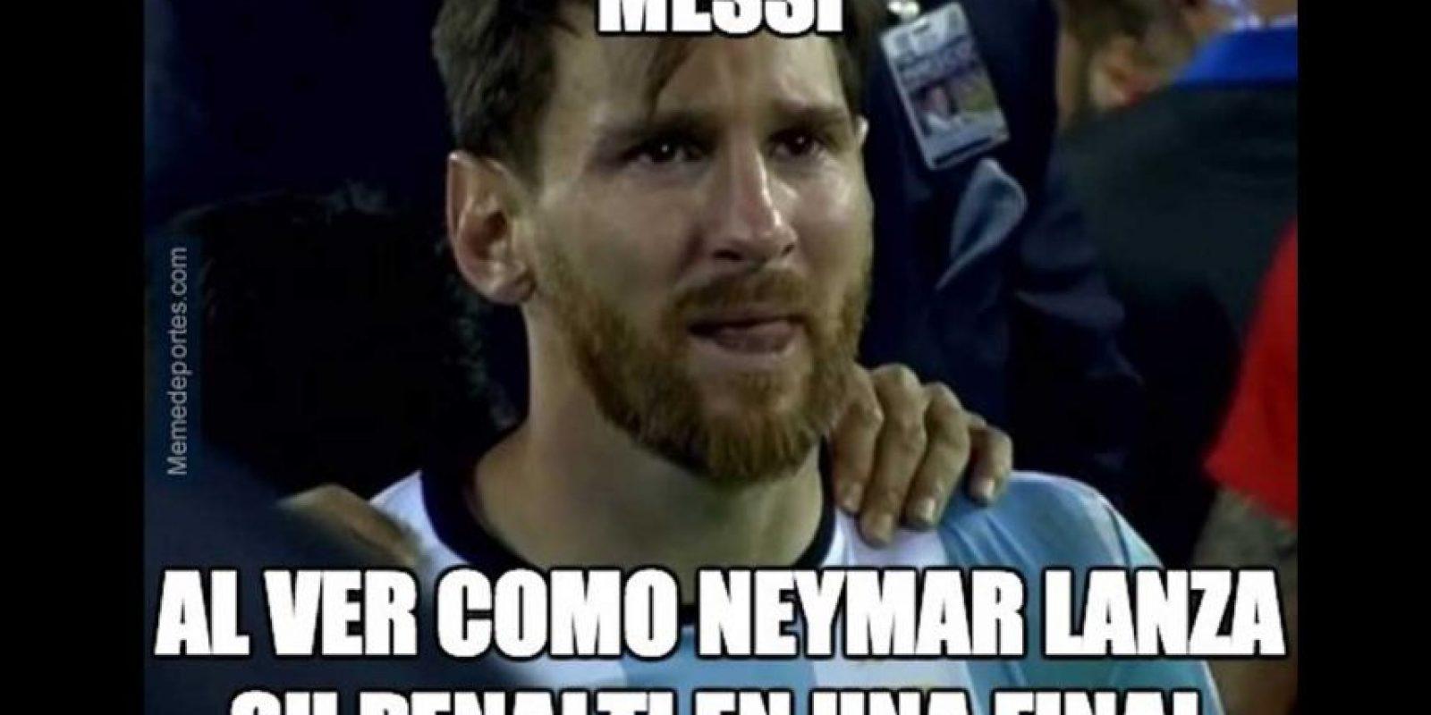 Messi se llevó una que otra crítica. Foto:memedeportes.com