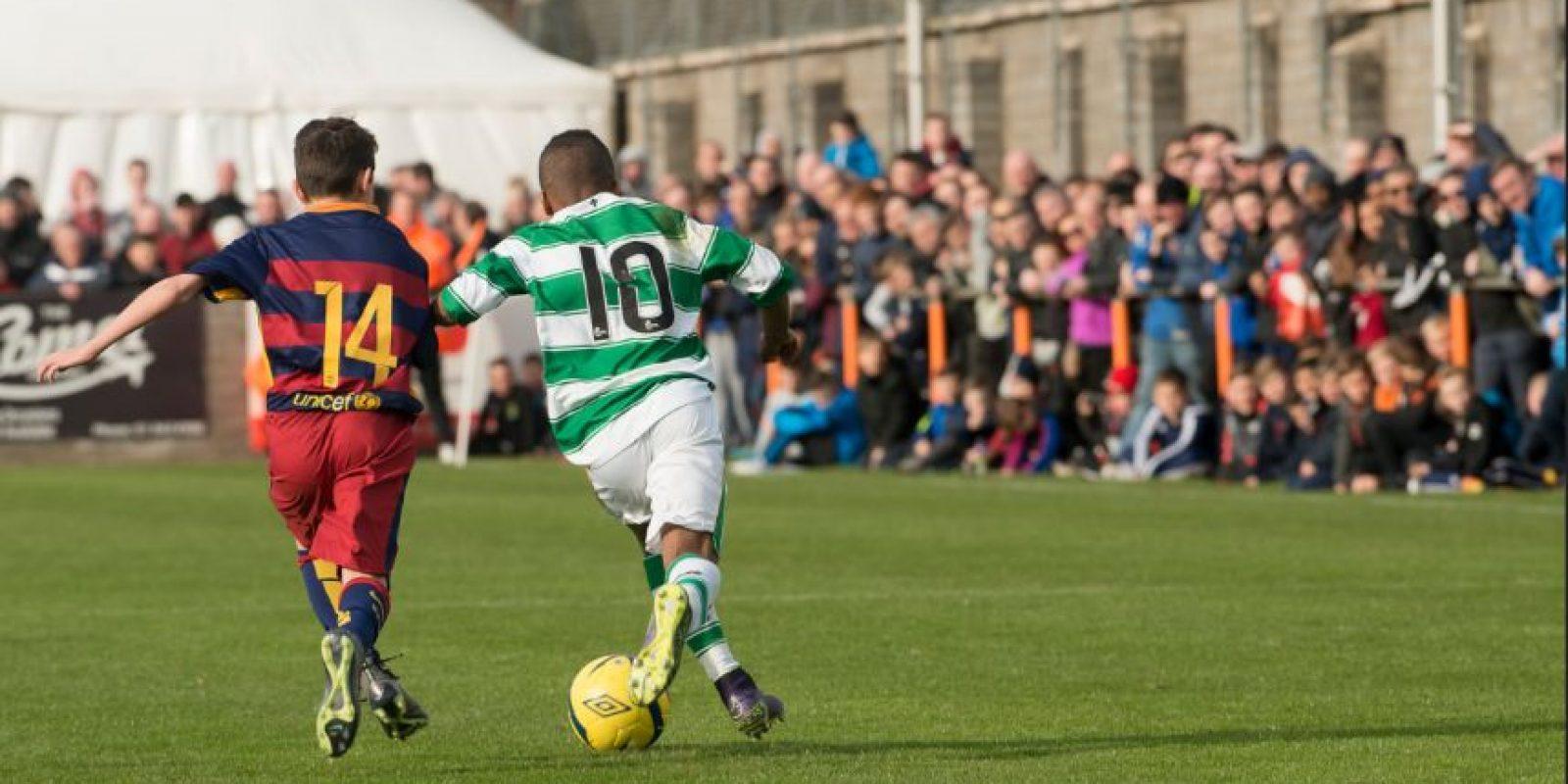 Pese a que ahora está en boca de todos, Dembélé salto a la fama tras lucirse en el torneo St Kevin's Academy Cup de este año. Foto:Paul Dolan-Flickr