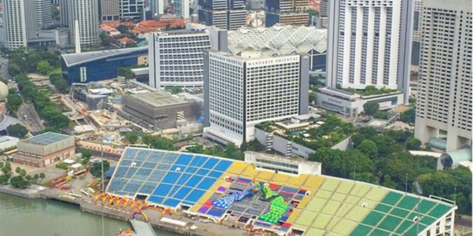 Estadio flotante en Marina Bay. El recinto de Singapur fue inaugurado en 2007 y salió al mundo por albergar los Juegos Olímpicos de la Juventud. Tiene un aforo de 30 mil espectadores Foto:Instagram Marina Bay