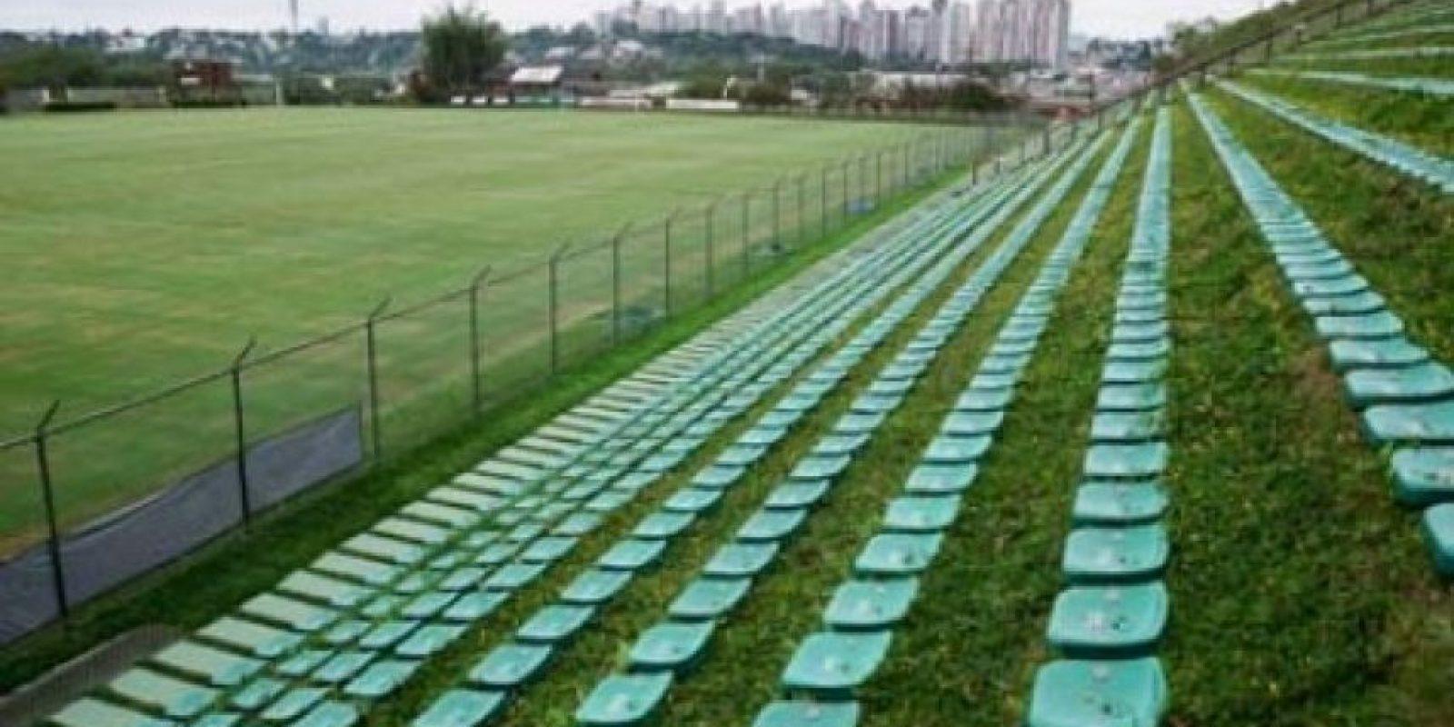 """Eco-Estadio Janguito Malucelli (Brasil). El primer estadio """"ecológico"""" del mundo tiene la particularidad que sus butacas están instaladas sobre el césped y no se utilizó cemento. Foto:Sitio web oficial Janguito Malucelli"""