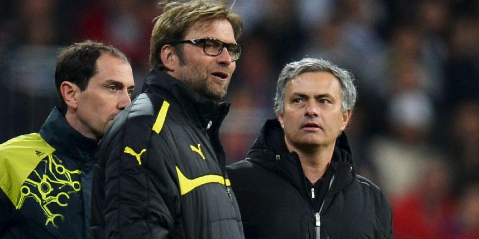 Mourinho y Klopp se han enfrentado en cinco ocasiones. Foto:Getty Images