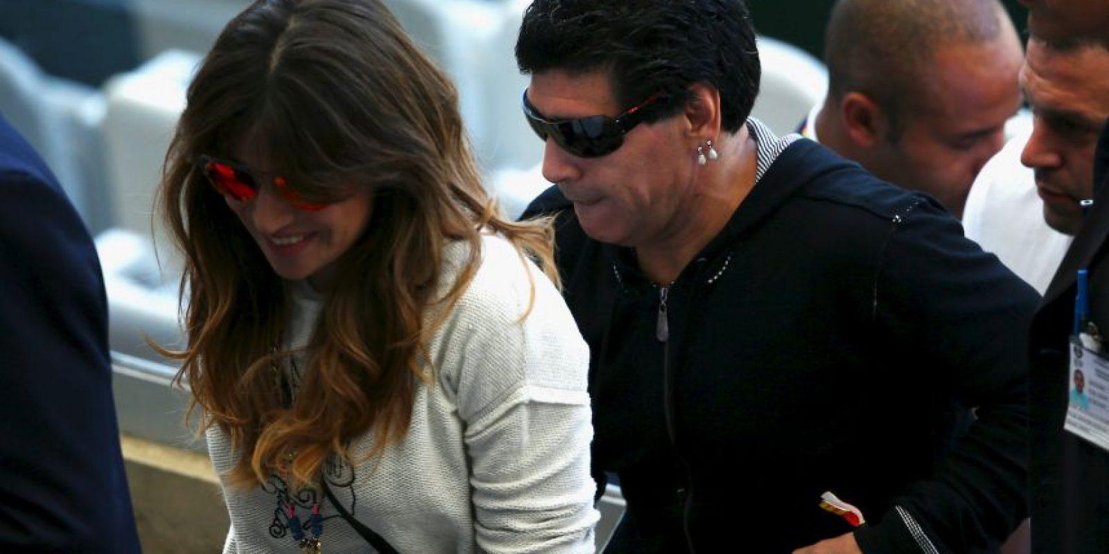 Giannina Maradona le pidió a su hijo Benjamín que no juegue fútbol Foto:Getty Images