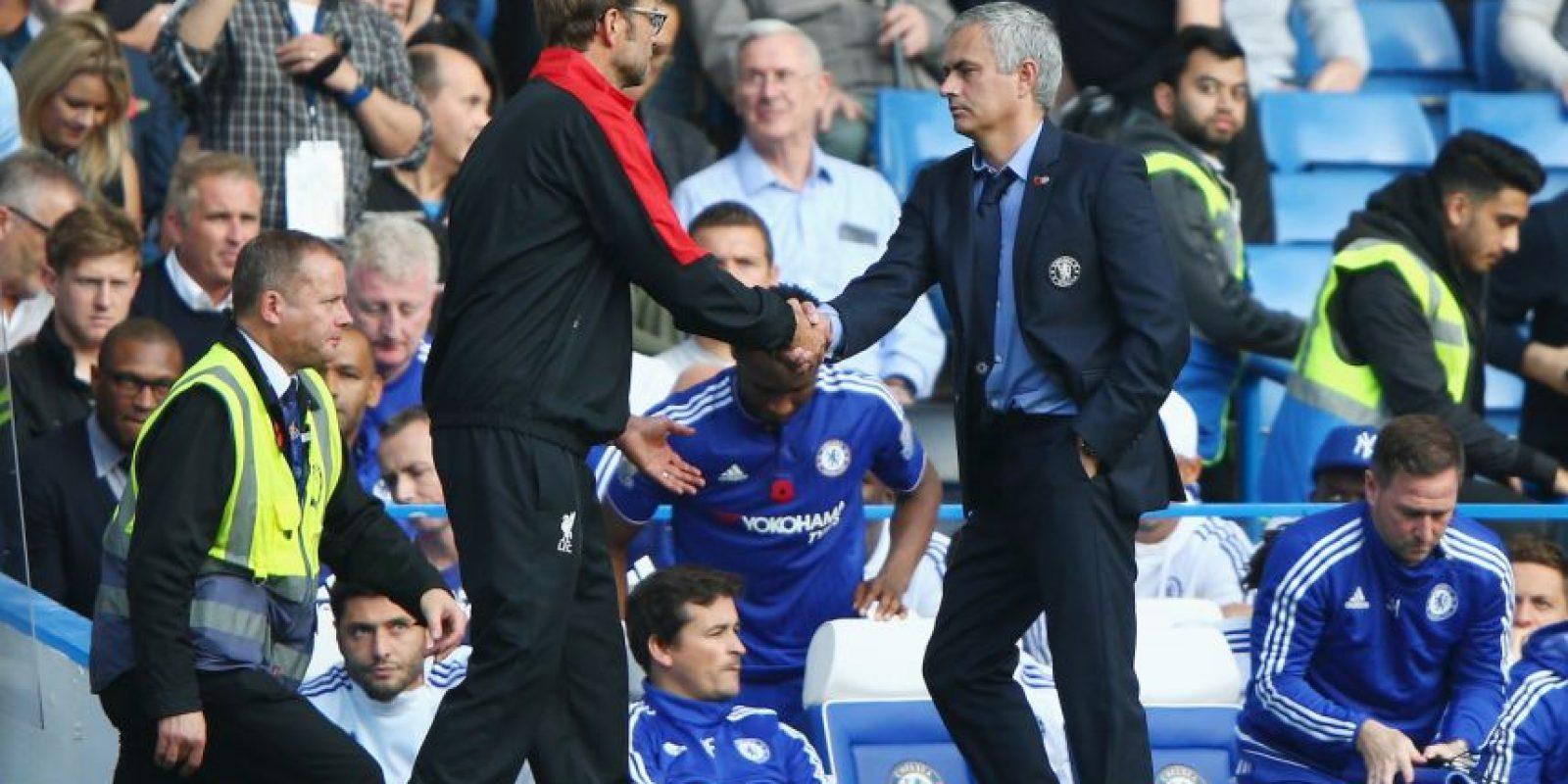Mourinho y Jurgen Klopp se vuelven a encontrar en la Premier League. Foto:Getty Images