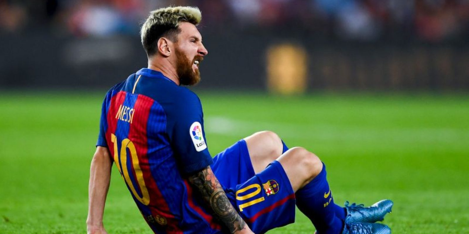 """La """"Pulga"""" volverá a tocar el balón 21 días de su lesión. Foto:Getty Images"""