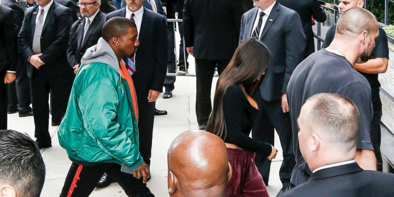 Así llegó Kim Kardashian a Estados Unidos Foto:Grosby Group