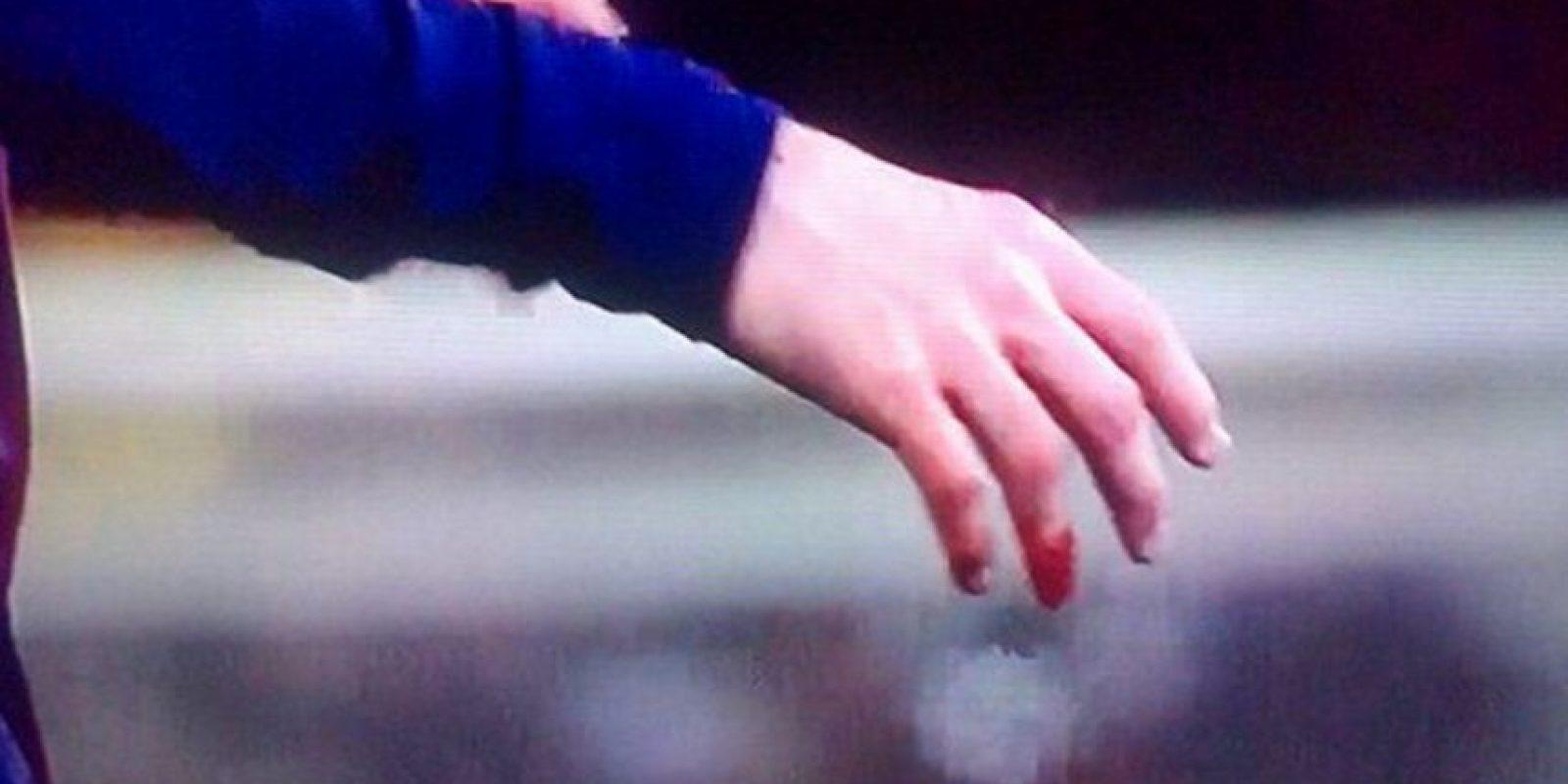 El dedo de Lionel Messi Foto:Twitter
