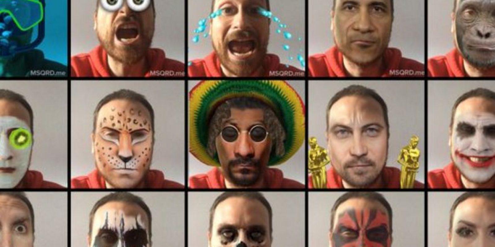Bowie, Joker, Mimi, calavera y otros filtro más. Foto:Masquerade