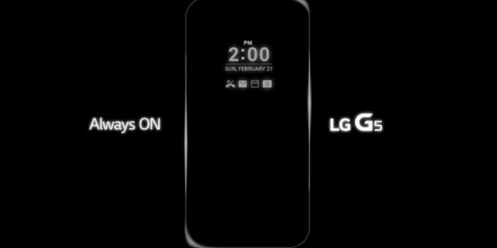 """""""Always ON"""", la nueva característica del LG G5. Foto:Vía LG"""