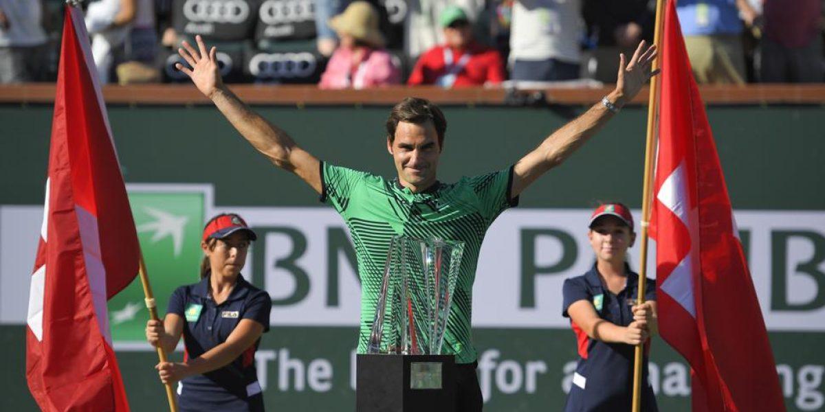Federer vuelve a hacer historia en Indian Wells