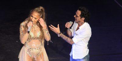 En pleno concierto, Jennifer Lopez rechaza beso de Marc Anthony