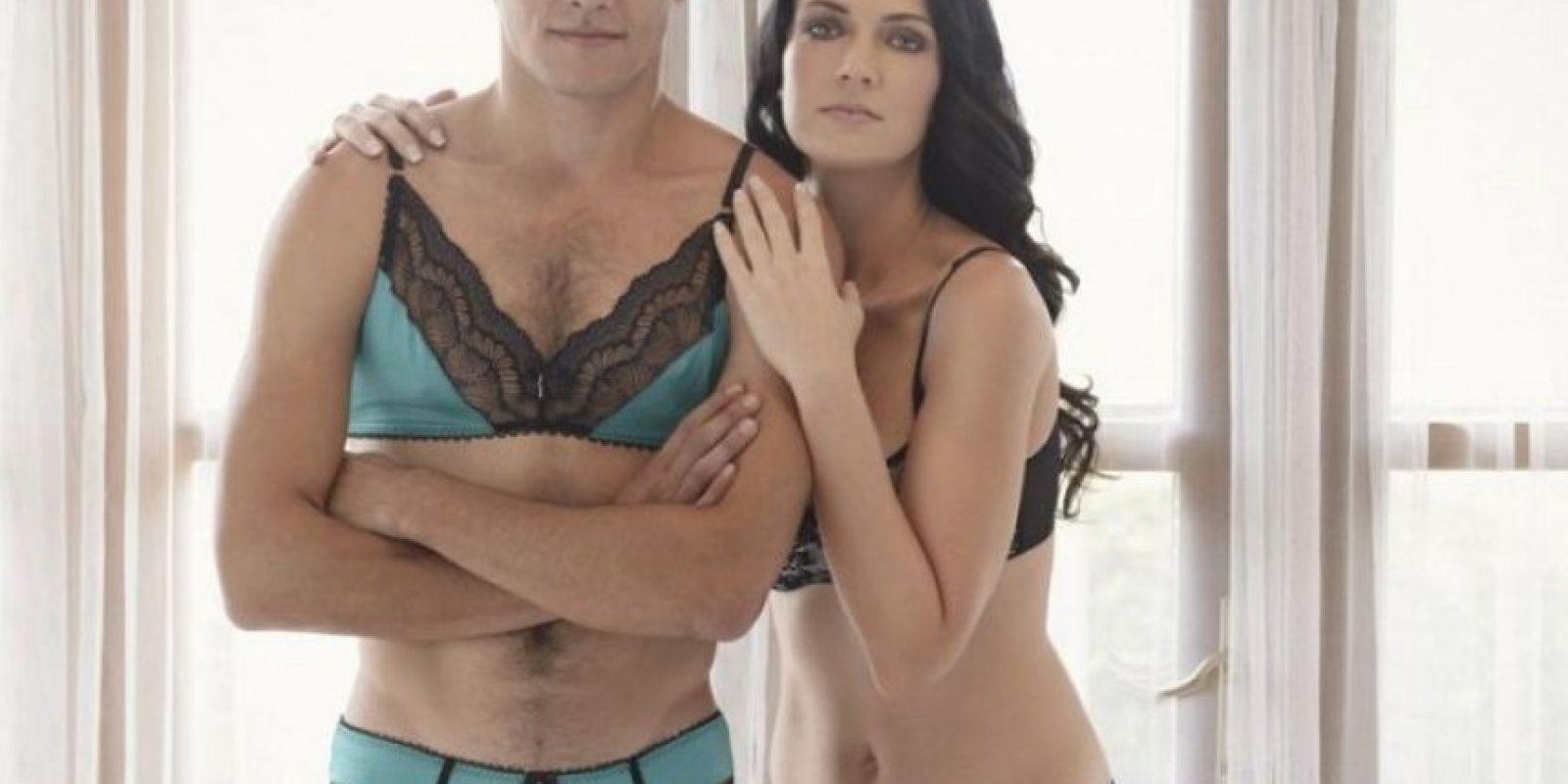 Фото мужского в женском, Странно, но сексуально: мужчины в кружевном белье 23 фотография
