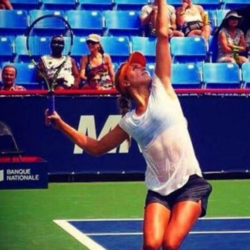 La tenista canadiense es una de las más bellas del circuito canadiense, pero no se le conoce una pareja formal Foto:WTA