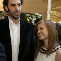 3- Borat (Sacha Baron Cohen) y Isla Fisher. Foto: Getty Images