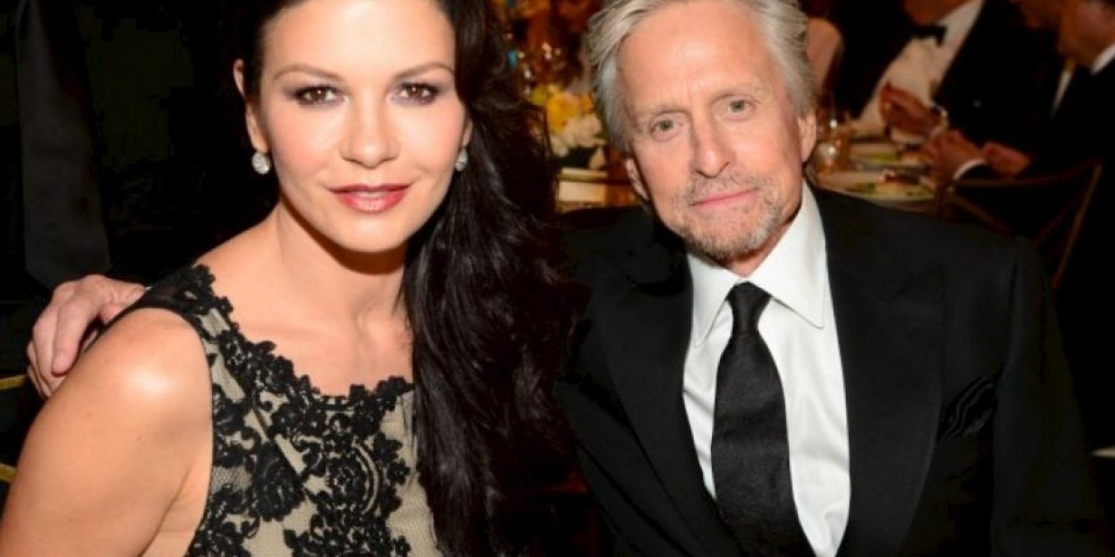 6- Catherine Zeta Jones y Michael Douglas. Foto: Getty Images
