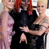 Shawn Crahan, de Slipknot, aterrorizando a niños con estilo. Foto:vía Getty Images