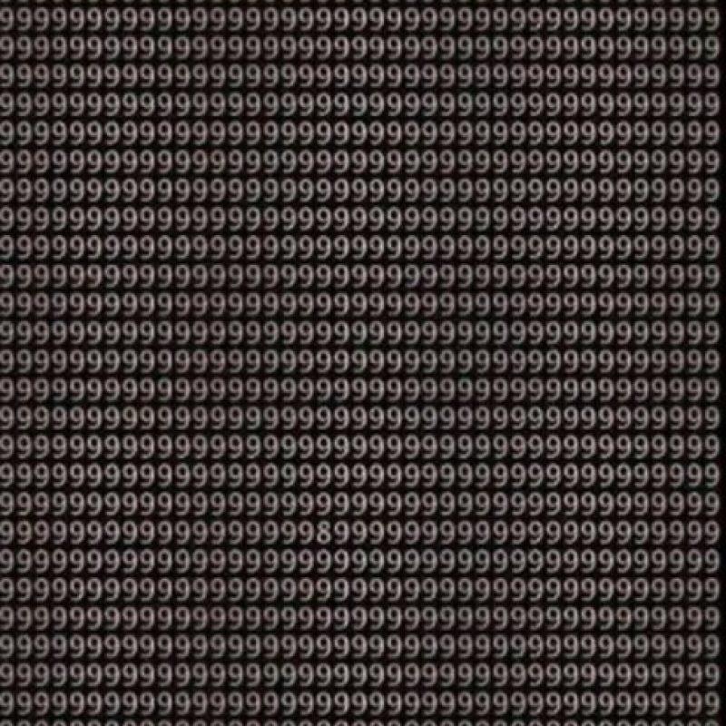 ¿Pueden encontrar el número 8 en menos de un minuto? Foto:Vía Twtter.com
