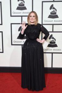 Este fue su arribo a la edición 58 de los Grammy Foto:Getty Images