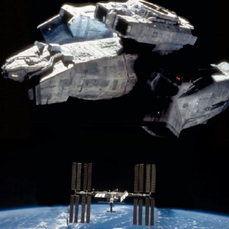"""La USCSS Nostromo (""""Alien"""") sobre la Estación Espacial Internacional (ISS) Foto:@sefipolis"""