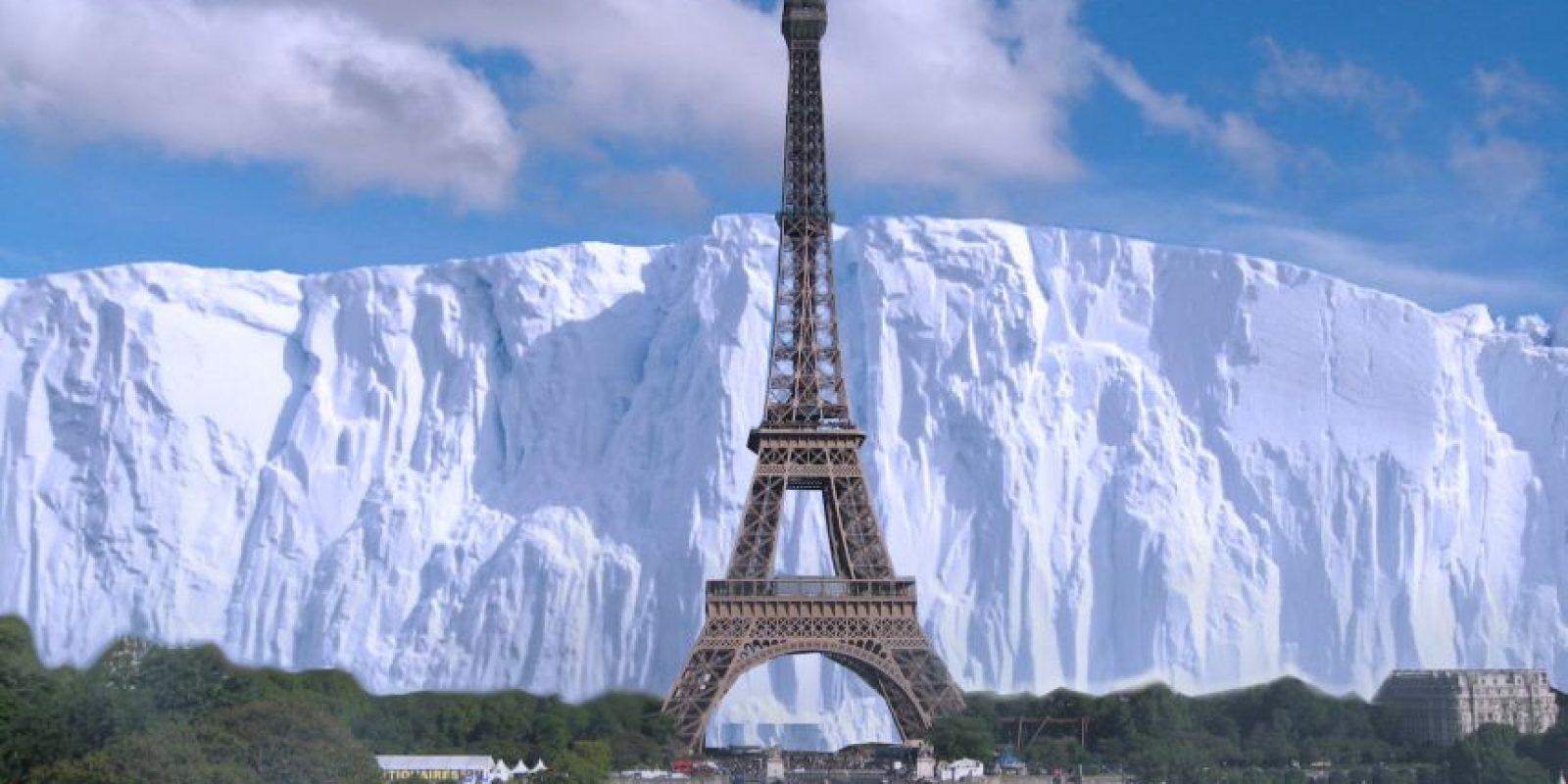 """El muro de """"Game of Thrones"""" comparado con la Torre Eiffel Foto:@sefipolis"""