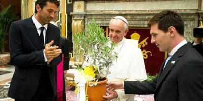 Lionel Messi también estuvo con el pontífice
