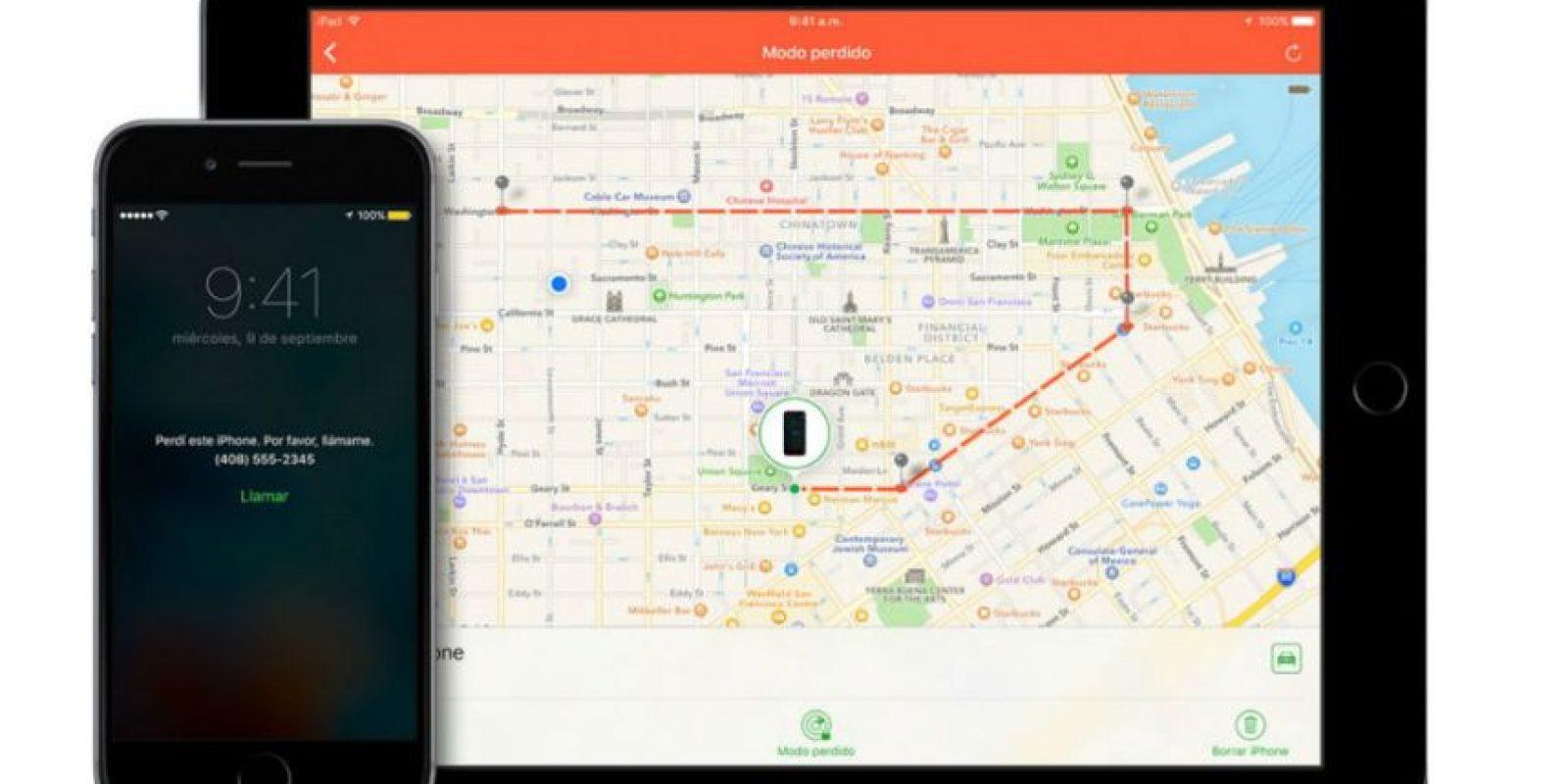 Buscar mi iPhone tiene diversas funciones. Foto:Apple