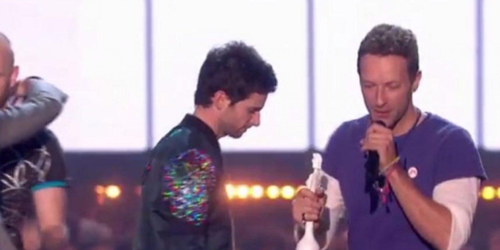 Banda británica del año: Coldplay Foto:Vía Twitter
