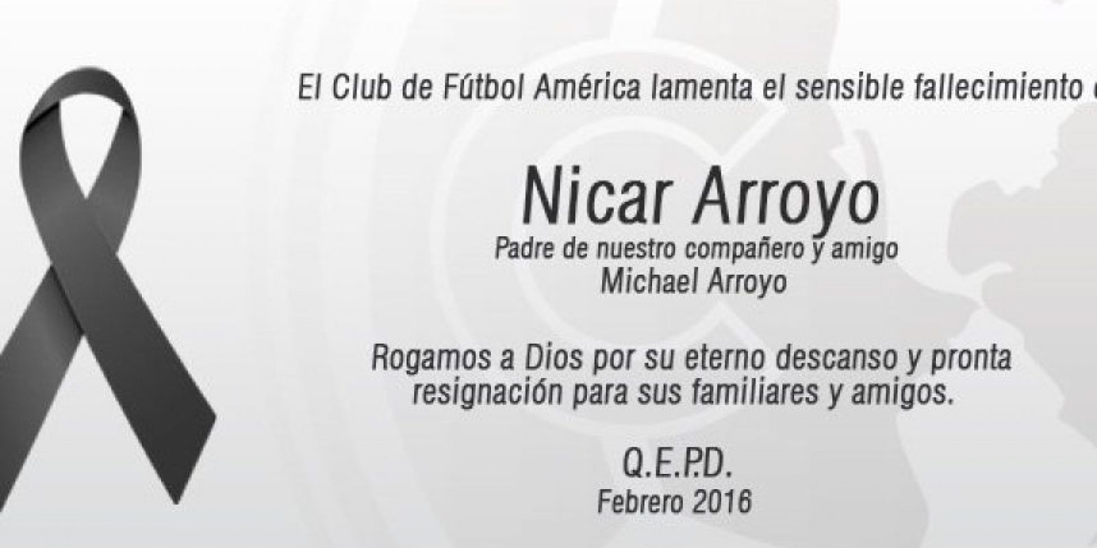 Fallece el padre de Michael Arroyo Foto:Club América