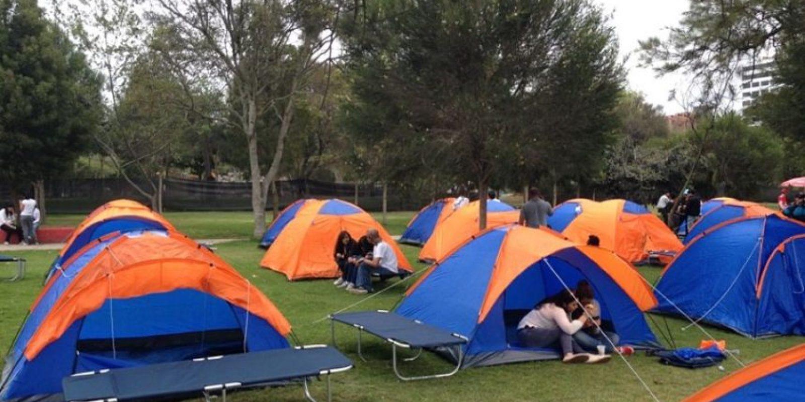 Estudiantes armaron los campamentos Foto:Cortesía