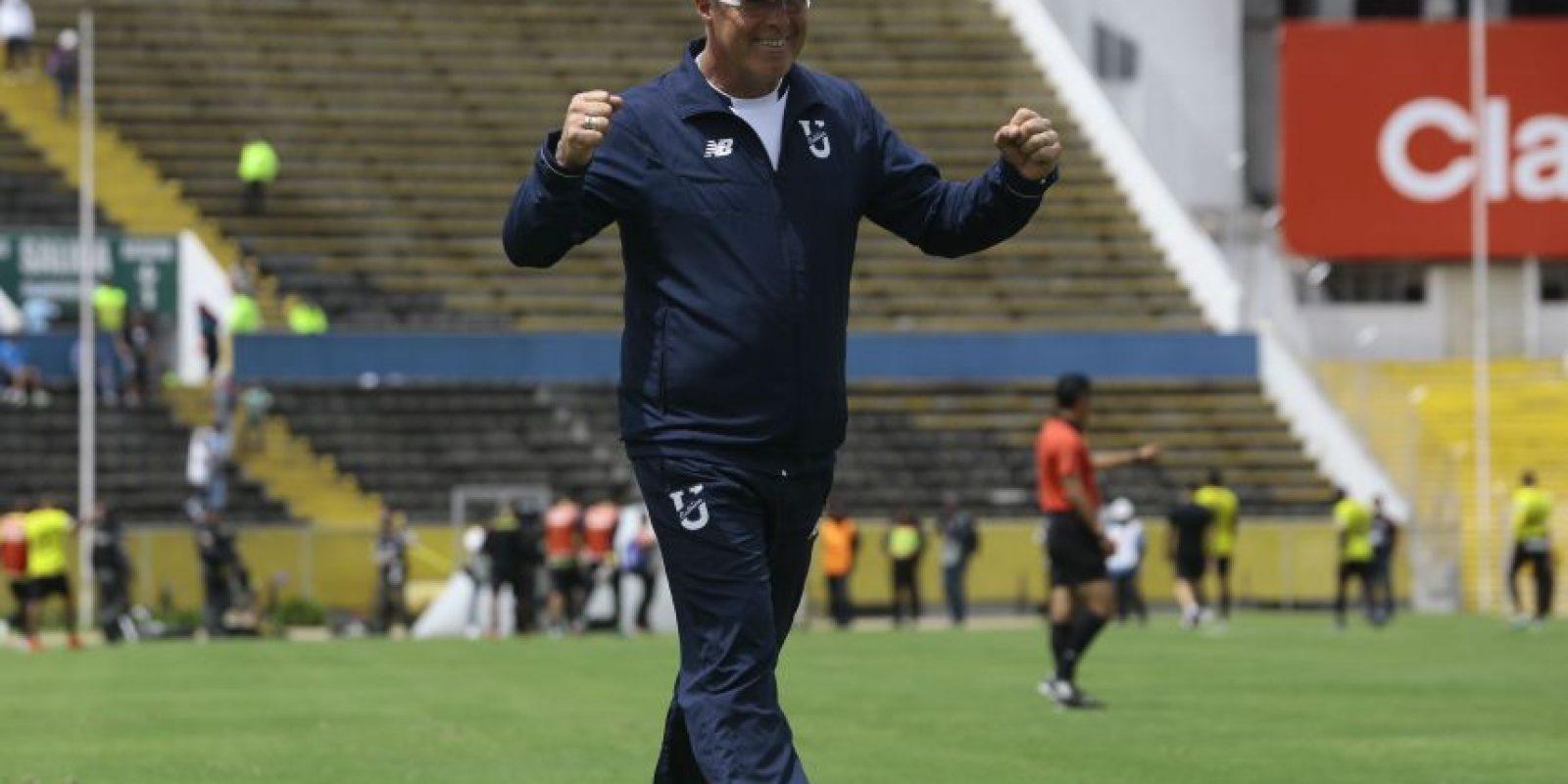 Jorge Célico celebra la victoria, Foto:API