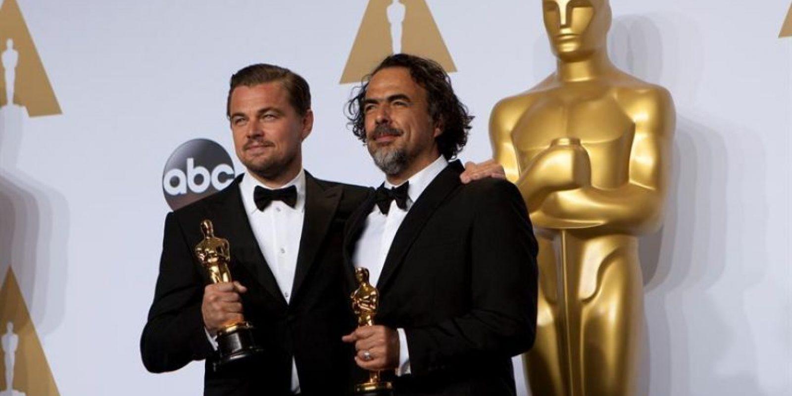 Leonardo DiCaprio y el director de la película The Revenant Foto:EFE