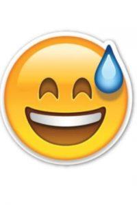 Risa avergonzada Foto:Emojipedia