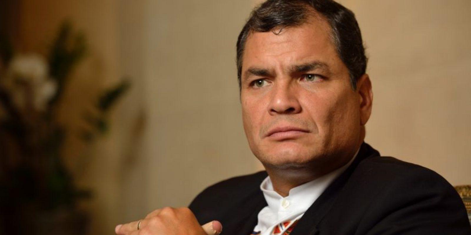 El presidente ecuatoriano Rafael Correa le pidió a la Policía ser prudente el jueves Foto:AGENCIAS