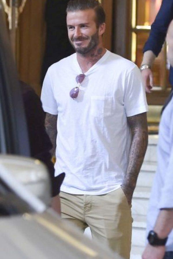 Así luce David Beckham en sus looks diarios Foto:Vía Grosby Group