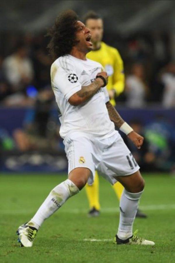 Marcelo ganó su segunda medalla de Champions con el Real Madrid Foto:Getty Images