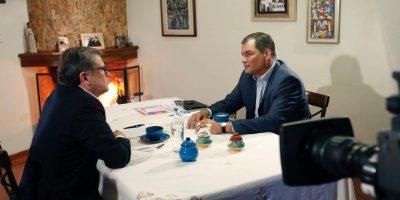 Presidente Rafael Correa en entrevista con Ecuador Tv Foto:Presidencia EC