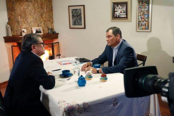 Correa reiteró que viajará a Bélgica tras su mandato