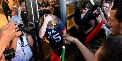 Hubo golpes y lanzamiento de huevos Foto:AFP