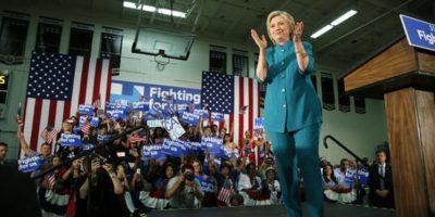 Por su parte, Clinton quiere asegurar su nominación. Foto:AP