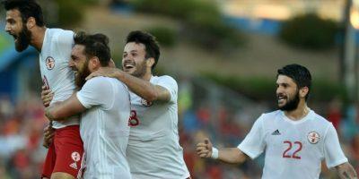 Georgia sorprendió a España y lo venció por 1 a 0 Foto:AFP