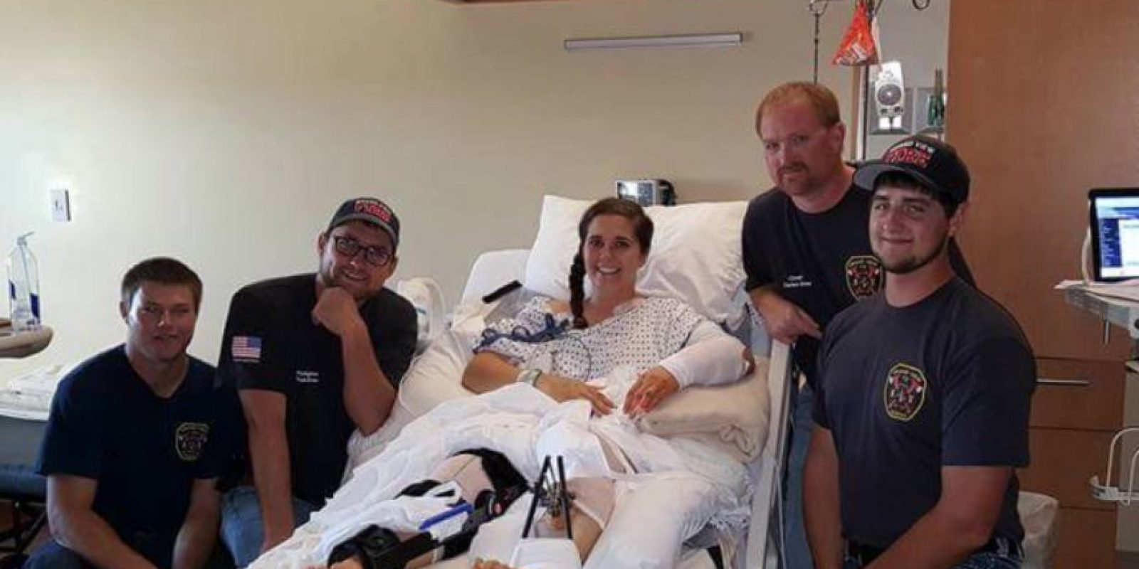 Así se ven luego del accidente. Foto:vía Facebook