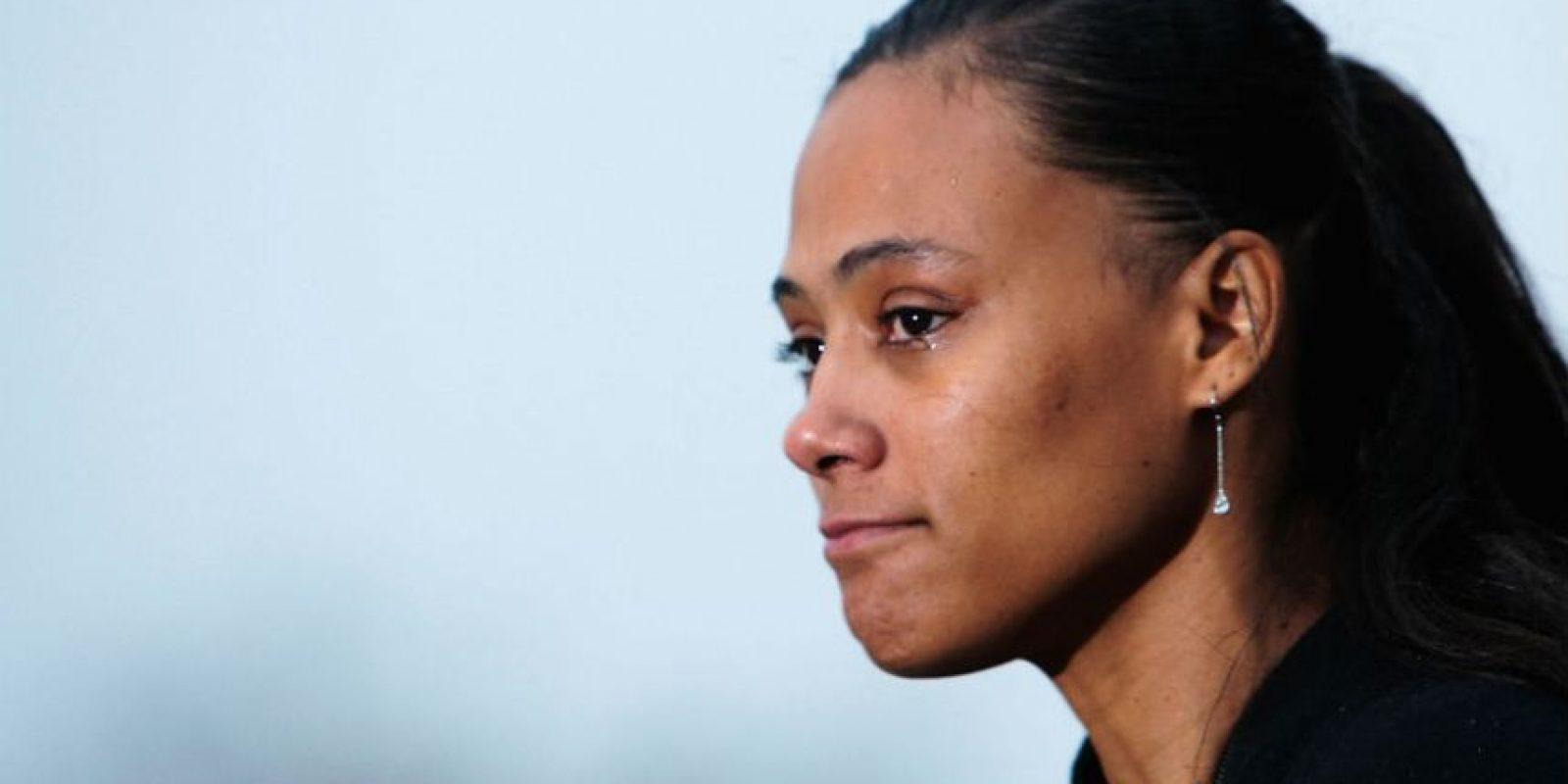 Marion Jons. La atleta fue despojada de sus tres medallas de oro y dos de bronce que ganó en los Juegos Olímpicos de Sídney 2000, después de admitir que su dopaje durante la competencia. Foto:Getty Images