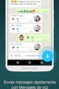 Una de sus funciones más fuertes es el envío de audio. Foto:WhatsApp