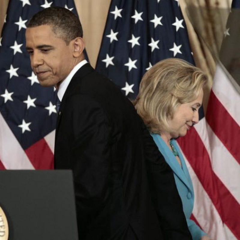 En 2008 Barack Obama y Hillary Clinton se enfrentaron para ocupar la presidencia de Estados Unidos. Foto:AP